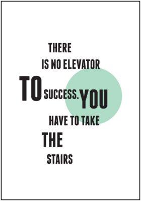 Poster Citação de tipografia para Inspirado
