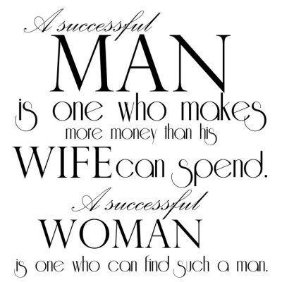 Poster Citação sobre o homem bem sucedido Design de texto
