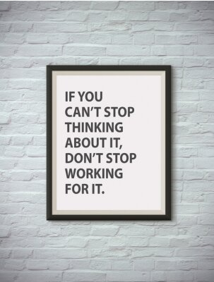 Poster Citações de motivação inspiradas no quadro de retrato.