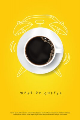 Poster Coffee Poster Advertisement Flayers Vector Illustration