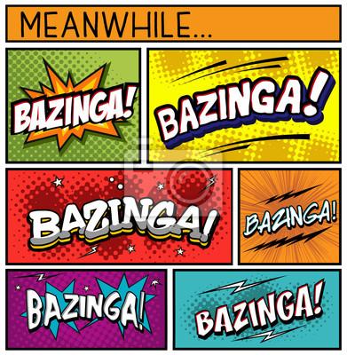 Poster Coleção de Quadrinhos-BAZINGA