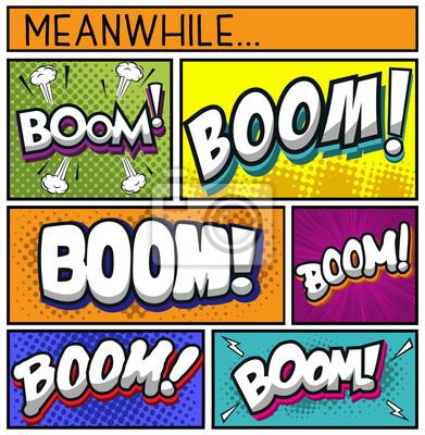 Poster Coleção de quadrinhos-BOOM