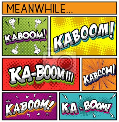 Poster Coleção de quadrinhos-KABOOM
