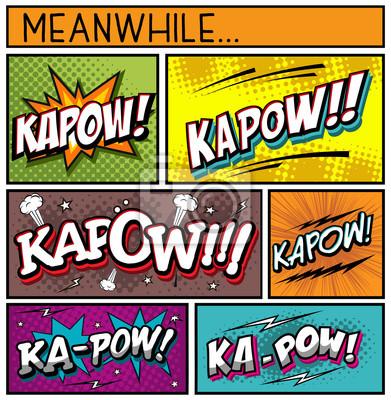 Poster Coleção de quadrinhos-KAPOW