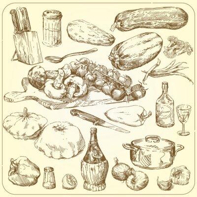 Poster Coleção do alimento