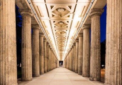 Poster Colonnade à noite