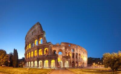 Poster Colosseum na noite .Rome - Itália