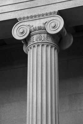 Poster coluna detalhe arquitetônico e do simbolismo