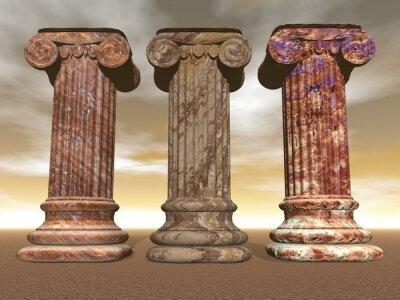 Poster Colunas de pedra -, 3D, render