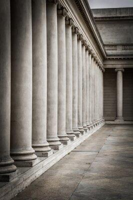 Poster Colunas no pátio do Palácio da Legião de Honra