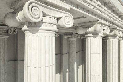 Poster Colunas. ordem iônica.