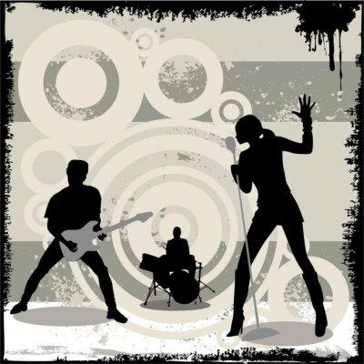 Poster concerto do vetor do grunge