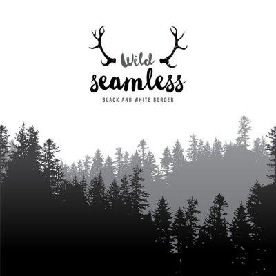Poster Coniferous, floresta, borda