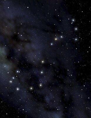 Poster Constelação de escorpião no céu à noite