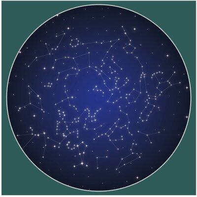 Poster Constelações do hemisfério norte