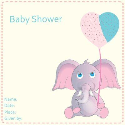 Poster Convite da festa do bebé