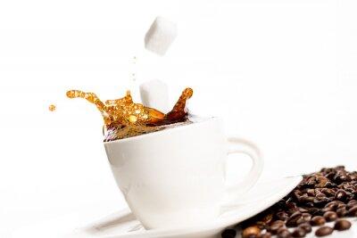 Poster Copo, café, respingo