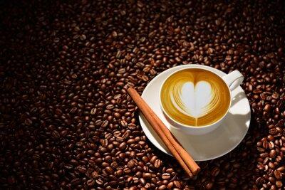 Poster Copo, latte, arte, café, café, feijões