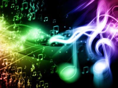 Poster Cor do fundo de Música