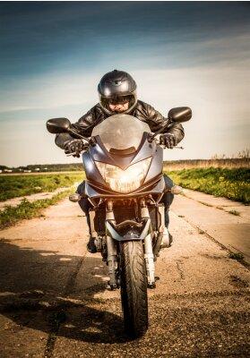 Poster Corrida motociclista na estrada
