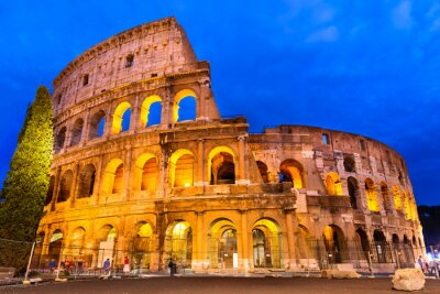 Poster Crepúsculo Coliseu, Roma, Itália