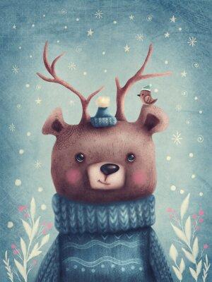 Poster Cute brown bear