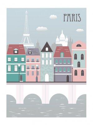 Poster Da cidade de Paris.