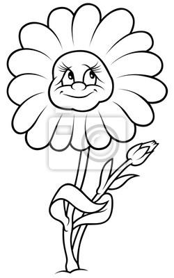 Da Flor Da Margarida Preto E Branco Dos Desenhos Animados