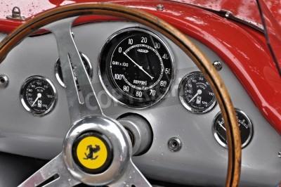 Poster Dashboard Ferrari Vintage