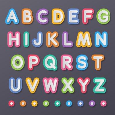 Poster de papel As letras do alfabeto de capital
