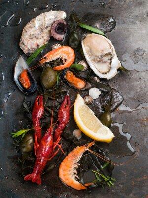 Poster Deliciosos frutos do mar frescos