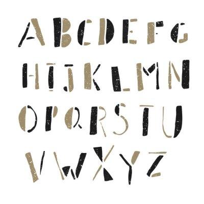 Poster Desenhado à mão Doodles Alphabet