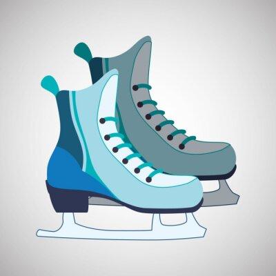 Poster Desenho de ícone de patinação