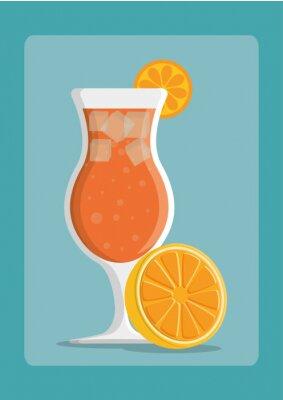 Poster Desenho de ícones de bebidas