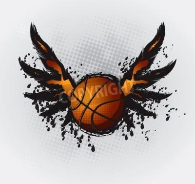 Poster Desenho Design Basquetebol Elemento 1 Vector