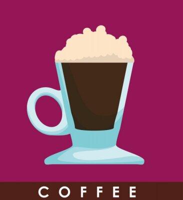Poster Desenho do ícone Coffe