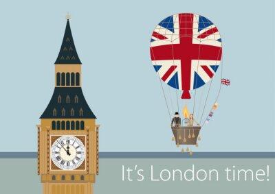 Poster Desenhos elegantes de Londres