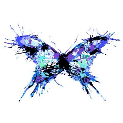 Poster design de borboletas
