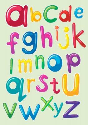 Poster Design de fonte com alfabetos ingleses