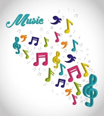 Poster Design digital de música.