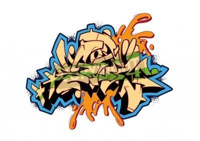 Poster Design do esboço do vetor Graffiti, palavra STORM. Esta é minha ilustração.