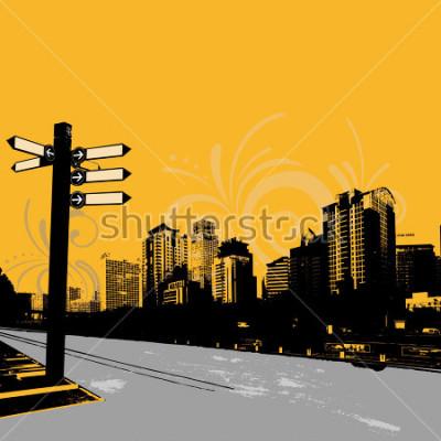 Poster design gráfico urbano do grunge moderno