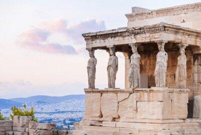 Poster Detalhe de Erechtheion na Acrópole de Atenas, Grécia