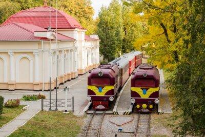 Poster Dois locomotiva velha