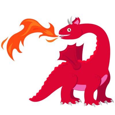 Poster Dragão que respira fogo