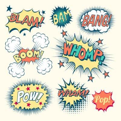 Poster Efeitos sonoros de quadrinhos