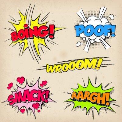 Poster Efeitos Sonoros quadrinhos com estilo Grunged