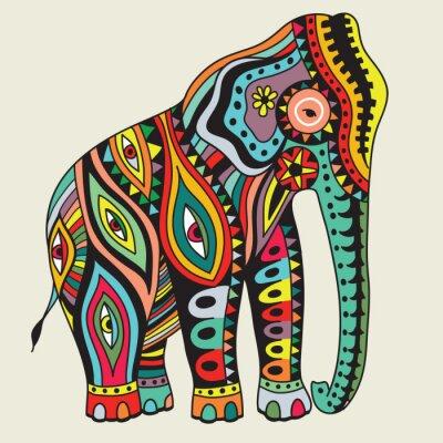 Poster Elefant. Vector a ilustração