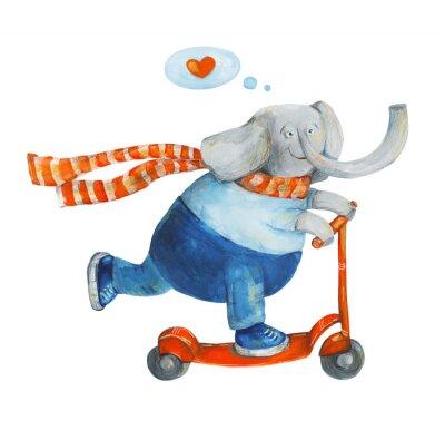 Poster Elefante no