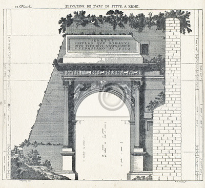 Poster Elevation the arch of Titus, in Rome